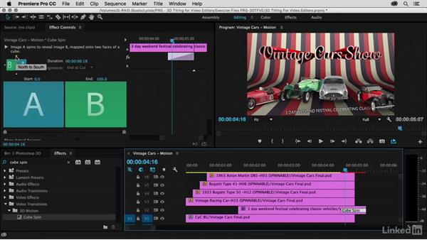 Animating using Transitions: Premiere Pro Guru: 3D Titling for Video Editors