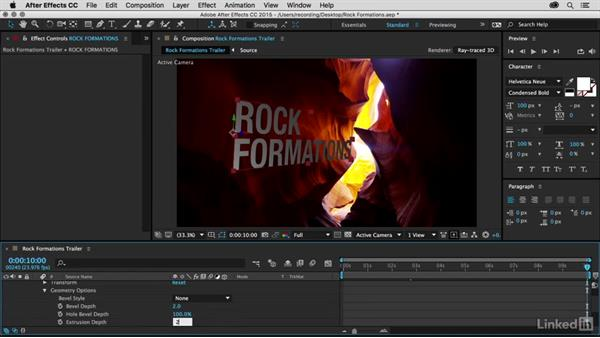 Designing 3D titles using Ray-traced 3D: Premiere Pro Guru: 3D Titling for Video Editors