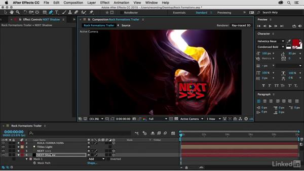 Matching shadows using solids: Premiere Pro Guru: 3D Titling for Video Editors