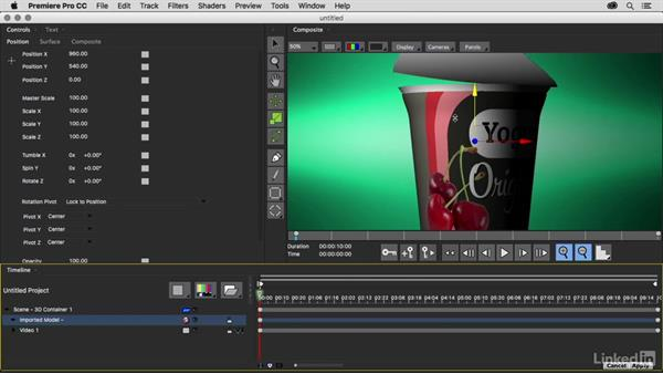 Importing a 3D object: Premiere Pro Guru: 3D Titling for Video Editors
