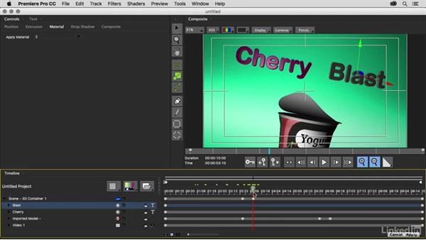 Creating and animating 3D Type: Premiere Pro Guru: 3D Titling for Video Editors