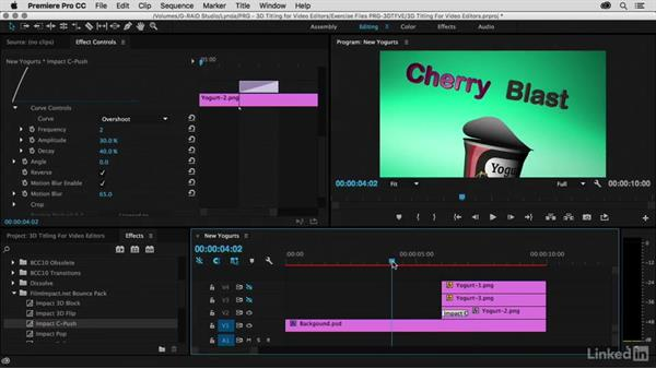 Animating a pack-shot with transitions: Premiere Pro Guru: 3D Titling for Video Editors