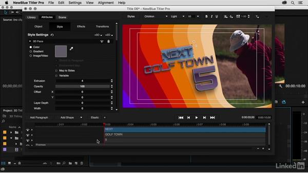 Adding additional 3D titles: Premiere Pro Guru: 3D Titling for Video Editors