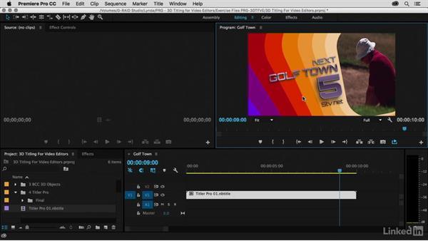 Adding motion blur with RSMB: Premiere Pro Guru: 3D Titling for Video Editors