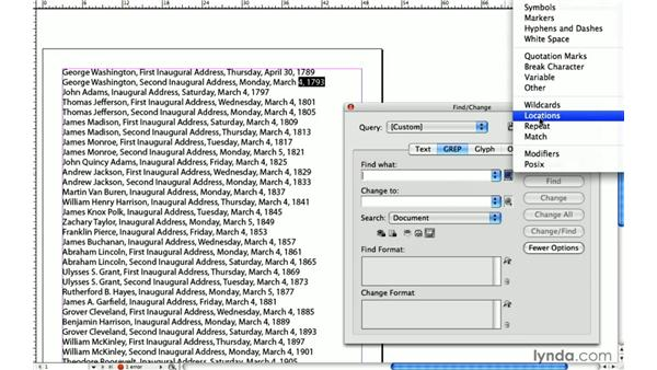 7. Reusing, recycling, and reordering: InDesign: 10 Things to Know About GREP