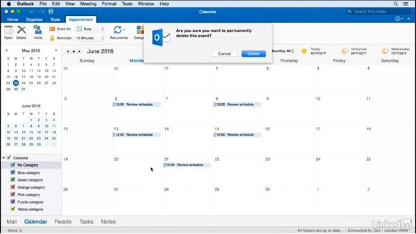 Move or copy an appointment: Time Management with Outlook for Mac 2016 Calendar and Tasks