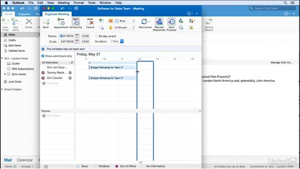 Forward an email to create a meeting: Time Management with Outlook for Mac 2016 Calendar and Tasks