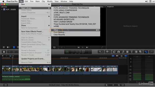 Using the exercise files: Final Cut Pro X Guru: Advanced Trimming