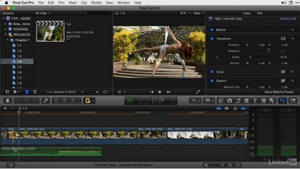 Removing sections of a clip or clips with Range Selection: Final Cut Pro X Guru: Advanced Trimming