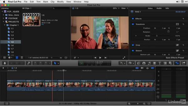 Splitting edits: Final Cut Pro X Guru: Advanced Trimming