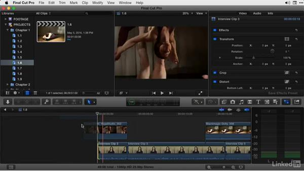 Dealing with connected clips while trimming in the primary storyline: Final Cut Pro X Guru: Advanced Trimming