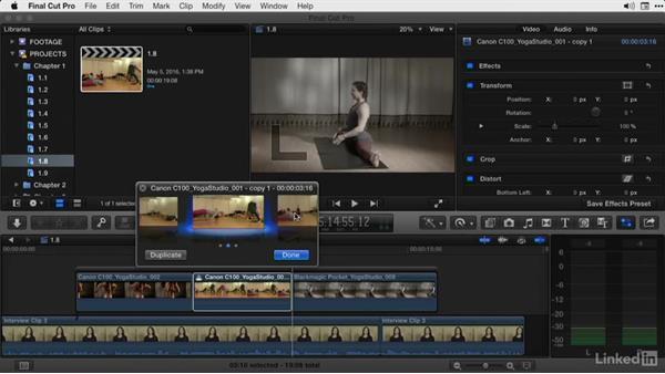 Using Auditions to compare cuts: Final Cut Pro X Guru: Advanced Trimming