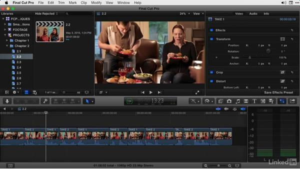 Moving between and playing around edit points: Final Cut Pro X Guru: Advanced Trimming