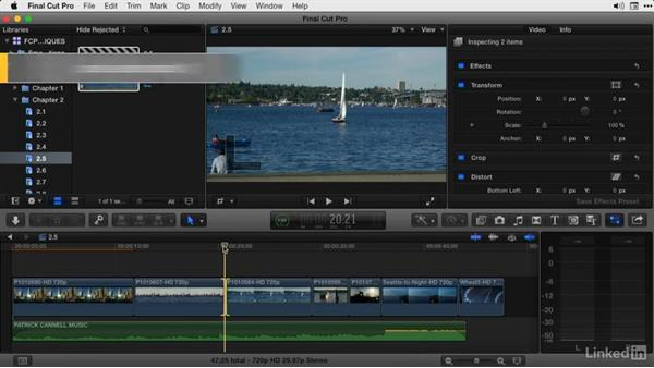Moving between Trim modes and trimming by 1, 8, or 10 frames: Final Cut Pro X Guru: Advanced Trimming