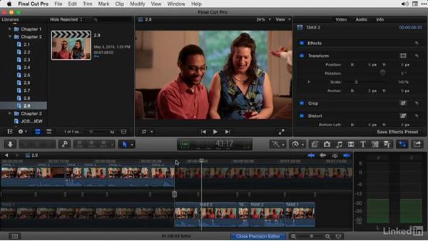 Using the Precision Editor: Final Cut Pro X Guru: Advanced Trimming