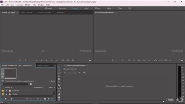 Using the exercise files: Premiere Pro Guru: Understanding Compression