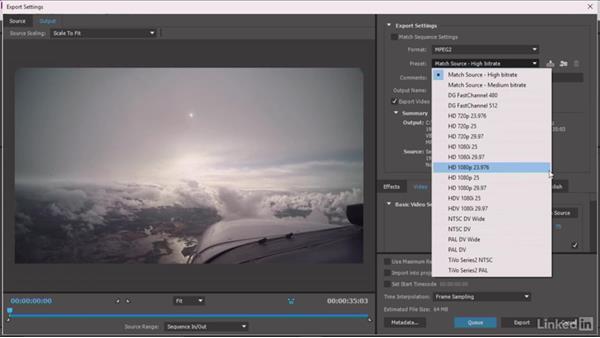 Format and presets: Premiere Pro Guru: Understanding Compression