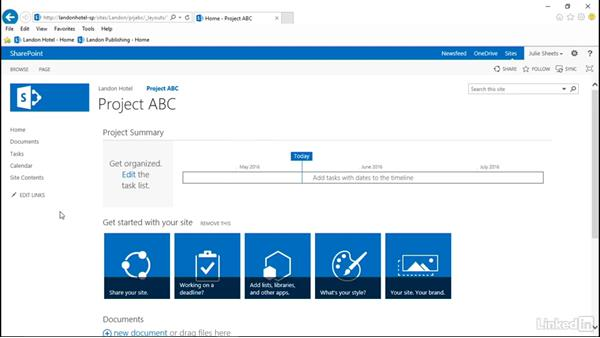 Create subsites: SharePoint 2013: Prepare for the Microsoft Office Specialist Certification Exam (77-419)