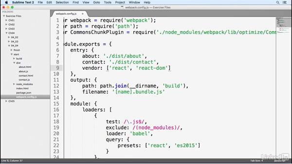Bundling vendor files: Learn Webpack: The Basics