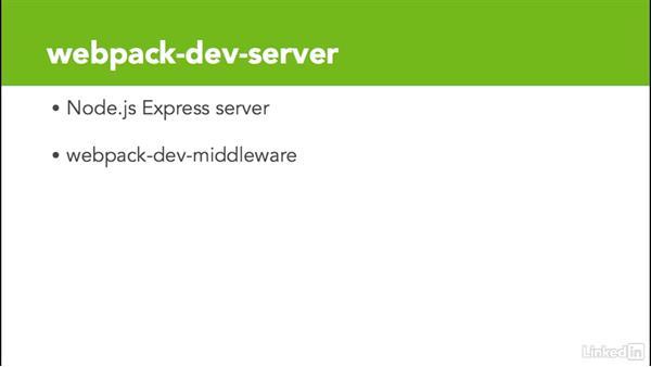What is the webpack-dev-server?: Learn Webpack: The Basics