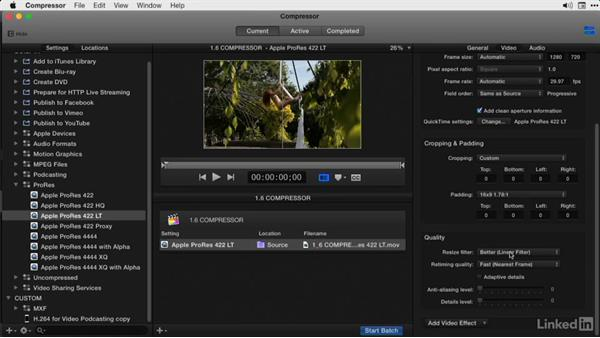 Modifying a Compressor template: Final Cut Pro X Guru: Compressor Exporting