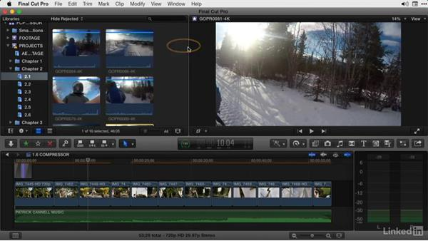 Creating proxies and optimized media using FCP X: Final Cut Pro X Guru: Compressor Exporting