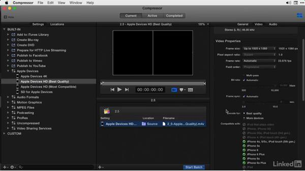Encoding to mobile devices: Final Cut Pro X Guru: Compressor Exporting