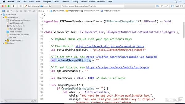 Add sample code to a project: Apple Pay for Developers