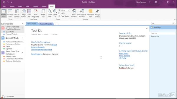 Make the most of OneNote: Advanced features: Getting Work Done in Office 365
