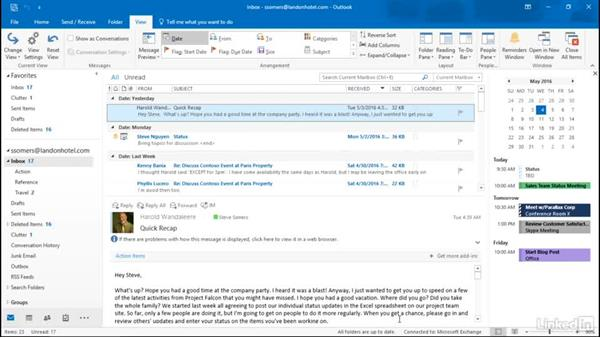 Manage long emails: Getting Work Done in Office 365