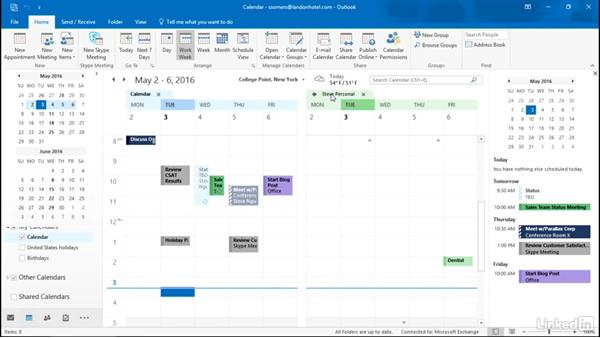 Manage multiple calendars: Getting Work Done in Office 365