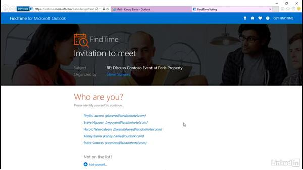 Schedule meetings with external partners: Getting Work Done in Office 365