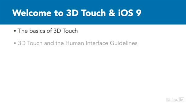 Welcome: iOS 9 3D Touch In Depth