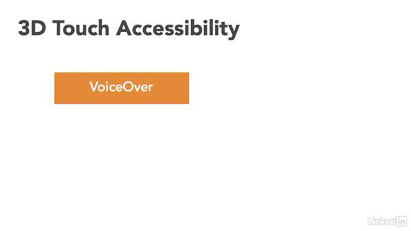 Let's talk about accessibility: iOS 9 3D Touch In Depth