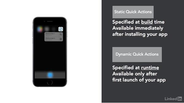 Static vs. dynamic quick actions: iOS 9 3D Touch In Depth