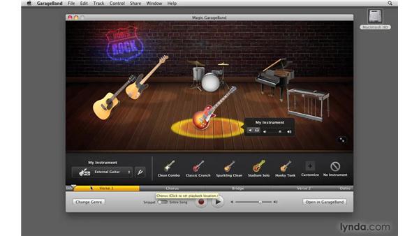 Recording and opening in GarageBand: GarageBand '09 Essential Training