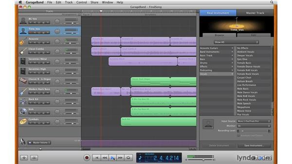 Exploring the interface: GarageBand '09 Essential Training