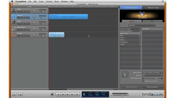 Adding loops: GarageBand '09 Essential Training