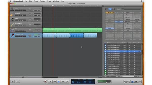 Editing loops in the Timeline: GarageBand '09 Essential Training