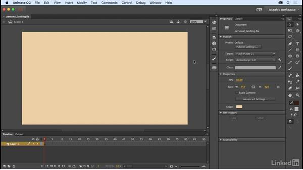 The stage and pasteboard: Learn Adobe Animate CC: The Basics