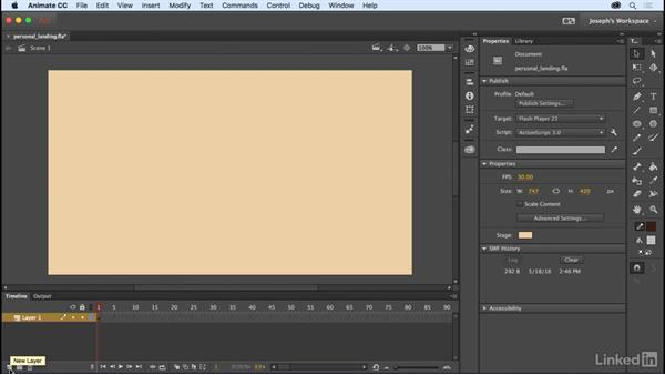 The Timeline, layers, and folders: Learn Adobe Animate CC: The Basics