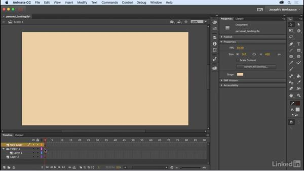 The Properties panel: Learn Adobe Animate CC: The Basics