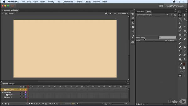 The project library: Learn Adobe Animate CC: The Basics