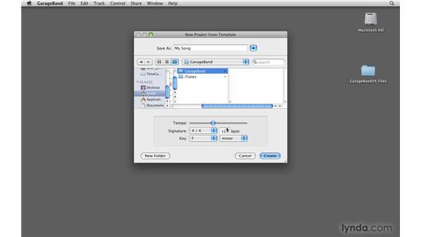 Creating custom loops: GarageBand '09 Essential Training