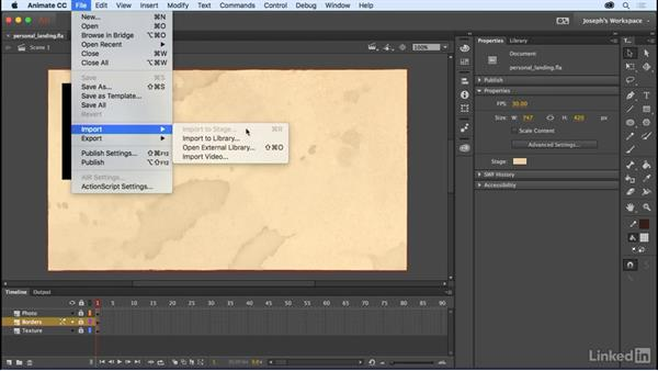 Importing sound files: Learn Adobe Animate CC: The Basics