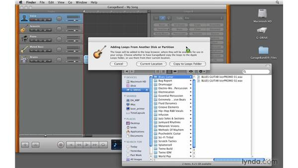 Adding third-party loops: GarageBand '09 Essential Training