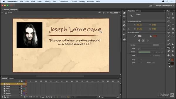 Breaking text into vectors: Learn Adobe Animate CC: The Basics