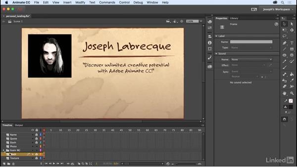 Layer folders: Learn Adobe Animate CC: The Basics