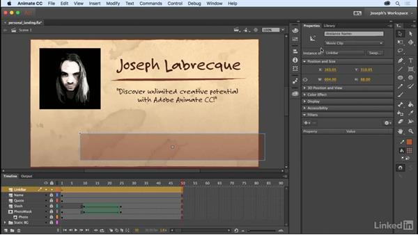 Movie clip symbols: Learn Adobe Animate CC: The Basics