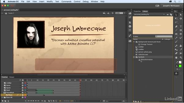 Managing library items: Learn Adobe Animate CC: The Basics